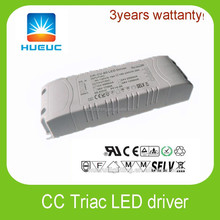 Constant voltage 30w 2000ma 1200ma 12VDC 24VDC Triac Dimmable LED Driver