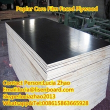 Cheapest price black film faced plywood , whole poplar core for construction
