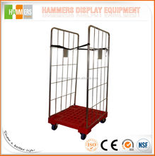 Two doors Plastic base roll container