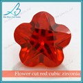sintético cz gemas flor granate corte de circón