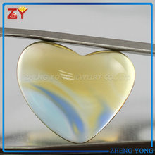 Colorful heart cabochon flat back glass gems
