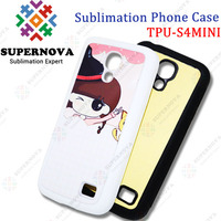 Sublimation soft silicone Case for S4 mini (TPU+PC)