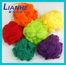 Solid polyester staple fiber with color for yarn,chemeical fiber polyester ,man-made fiber