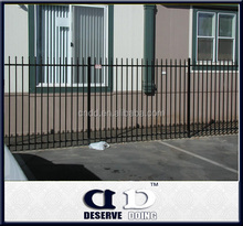 China professional supplier high quality steel picket fence for sale/ISO 9001 Certificate