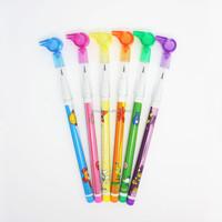 Lantu Plastic push pencil with Whistle on cap