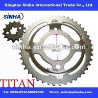 TITAN2000 MOTORCYCLE FRONT AND REAR SPROCKET SET