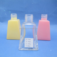 2oz/68ml clear square trapezoid glass diffuser bottles fragrance glass container