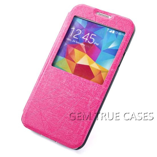 China supplier View Window Flip Leather Mobile phone cover for Samsung galaxy S5,phone case cover for Samsung