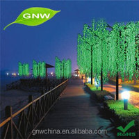tr044 GNW outdoor lighted willow christmas tree for wedding decoration