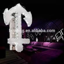 de moda de conservación de energía claro colgante de acero inoxidable de la lámpara