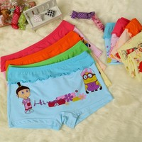 Hot Cartoon Cute Pattern Kids Boxer Underwear Little Girls Underwear Models Girls Sexy