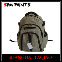 Durable hiking canvas backpack bag wholesale
