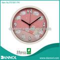 guangzhou 10 pulgadas de la ronda de plástico rosa ovejas dibujos animados de la pared imágenes de reloj