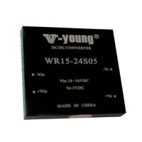 output 5V, 15W of output power, 2:1 wide input DC-DC module power supply
