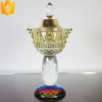 best seller home decorate crystal arabic incense burner