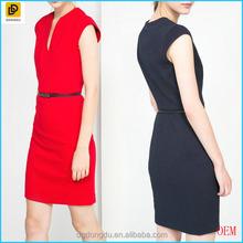 2016 Skinny Belt Evening Dress For Elegant Ladies