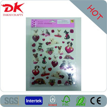lovely dog & cat pvc stickers/pvc wall sticker