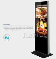 Digital signage for exhibition Hall,Stadiums,Banking,55''floor display portable advertising display
