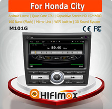 HIFIMAX Android 4.4.4 car dvd player for Honda City WITH Capacitive screen 1080P 16GB WIFI 3G INTERNET DVR
