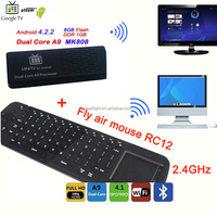 MK808B Dual Core WIFI Bluetooth Youtube Netflix Moive Player Android Mini TV Box TV Stick+RC12 Air Mouse Keyboard
