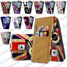 Fashion Patterns Printed Magnetic Top Flip PU Leather Case Card Holder Wallet Phone Cover Skin For Nokia X2