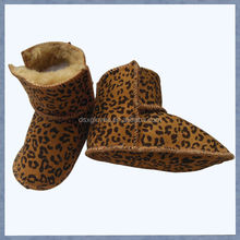 Wholesale Winter fashion Leopard baby shoes