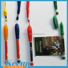 Promotional plastic banner pen , advertising pull out pen