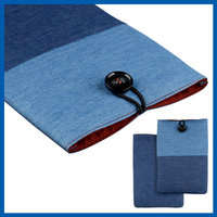 C&T Blue leather protective sleeves for apple ipad mini