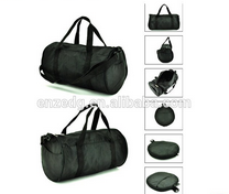 Well promotion branded polyester foldable round travel bag