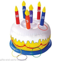 Inflatable Birthday Cake Ring Toss Game For Luau,Summer Beach Party Decoration