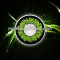 Los tonos 2 chispa geo baratos coreano contactos de color verde lente/sharingan de lentes de contacto
