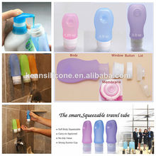 Carry-on Travel Pack Bottle/China Supplier Squeeze CreamTube Silicone Shampoo Bottle Leak-proof Carry-on Travel Pack Bottle