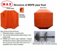 Large Diameter Plastic HDPE Float/Pontoon to Remark Dredge Pipe