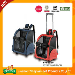 New!!! High Quality Various Size Bone and Paw Print Wholesale Pet Carrier with Wheels