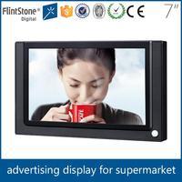 Flintstone 7 inch ultra thin lcd advertising display retail store pop tv displays