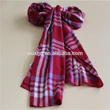 plaid di lana e viscosa sciarpa scialle