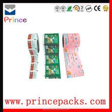 custom printing food grade material film roll transparent pet polyester film / laminated packaging film