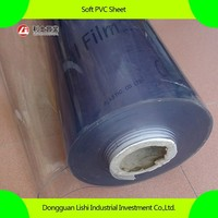 super clear soft PVC sheet, flexible PVC roll, transparent PVC sheet