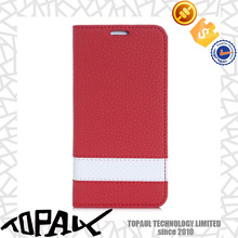 book style leather case for mobile phone/leather flip case