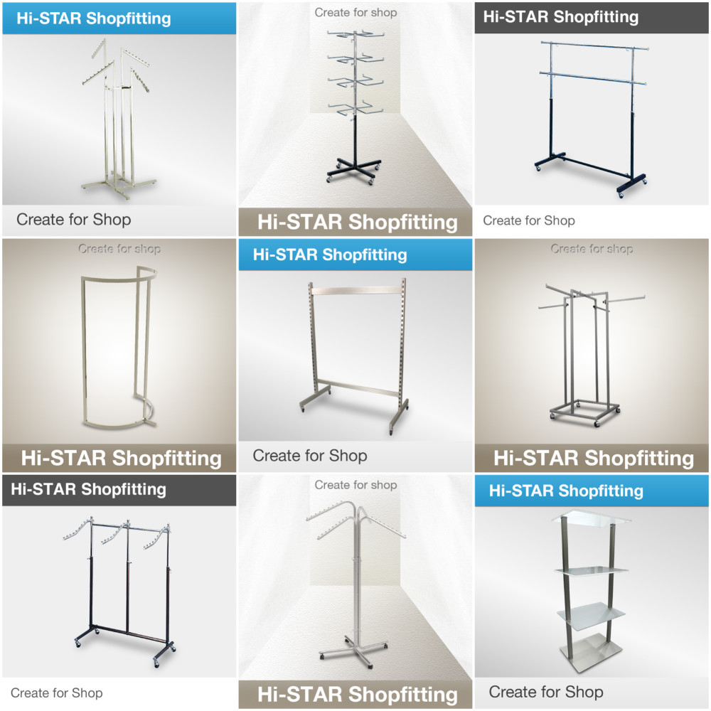 clothes shop display metal hanging clothes rotating round display rack