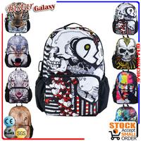 Bistar BBP103 white skull pattern school book backpack bag,boy school satchel