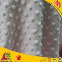 MOQ 50MTS mixed colors 2015 fashion design ultra soft Oeko-tex 100 minky dots velboa