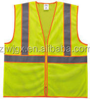 ANSI polyester yellow car reflective vest with reflective tripes