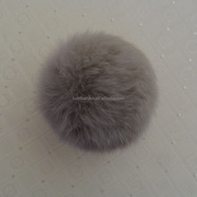 Real Fluffy Colorful 8cm Rabbit Fur Pom pom Fur Balls Keychain for Hats/Bags/Party Accessories/Christmas Decoration