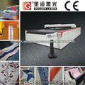 sistema de corte por láser para la industria textil sintético, PVC, cuero