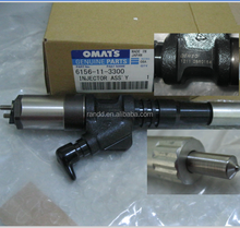 original diesel common rail fuel injector nozzle 6156-11-3300 6156113300 used for engine 6D125,095000-1211