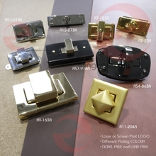 Antique metal turn closure for crystal bags