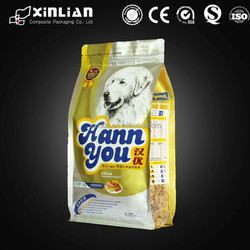 2015 new style plastic pet food treats /dog food bag/food packaging bag