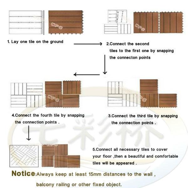 Outdoor Interlocking Floor Tiles Wpcwpc Interlocking Decking Tiles