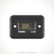 Digital LCD Inductive Gas Engine Hour Meter maintain pump,riding mower,aerator,motorcycle,snowblower,sod cutters
